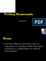 6. Writing Memoranda