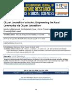 Citizen Journalism in Action Empowering the Rural Community via Citizen Journalism