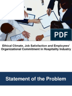 Ethics and Organizational Commitment in Hospitality Industry