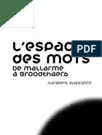 158199792 L Espace Des Mots