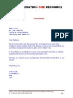 Sample Utpras Reg Docs - Ncii and Nciii