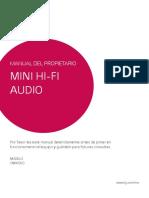 MANUAL DEL PROPIETARIO MINI HI-FI AUDIO LG