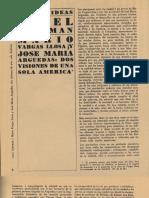 ARIEL DORFMAN (1971). Mario Vargas Llosa y José María Arguedas, dos visiones de una sola América