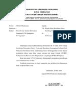 2.1.1.2 Surat Permohonan Analisis Kebutuhan Pendirian UPTD PKM