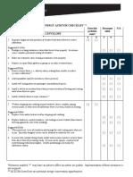 Energy Audit Check List