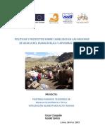Políticas y Proyectos Camelidos Peru