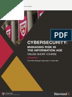 Harvard Cybersecurity Online Short Course Brochure