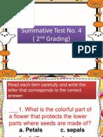 Sci Sum No. 4 (2nd Grading)