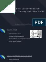 Referat zu der politisch-sozialen Ordnung auf dem Land