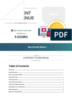 Linking Content to Revenue Benchmark Report 2019