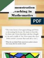 PowerPoint Demonstration Teaching in Mathematics