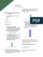 Estimación de proporciones bajo la curva normal - Ejercicios resueltos