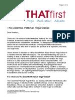 Essential Yoga Sutras