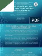 Efectividad Del Extracto de Ajo y Del Aloe Vera Como Agentes Antimicrobianos