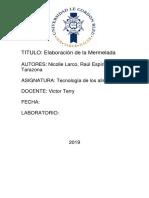 Elaboracion de La Mermelada 1