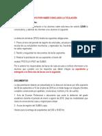 Procedimiento de Convocatorias de Titulaciòn.