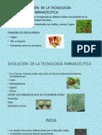 CLASE N° 002 EVOLUCION DE LA TECNOLOGIA FARMACÉUTICA