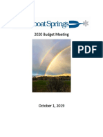 General Overview of 2020 Proposed Budget