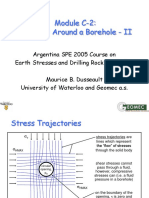Stress around borehole