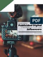 Prepublican proyecto de publicidad digital y sugerencias para influencers
