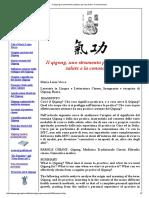 Il Qigong Un Strumento Prezioso Per La Salute e La Conoscenza