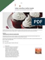 coberturas/ ice frosting cupcake