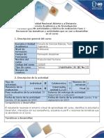 Guía de Actividades y Rúbrica de Evaluación - Fase 1 - Reconocer Las Temáticas y Actividades a Desarrollar en El Curso