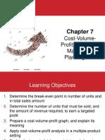Chapter 7 Cost-Volume-Profit Analysis