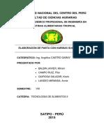 Informe de Fideos Sucedaneos Secos