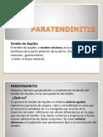 Paratendinitis