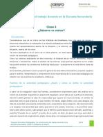 Clase 4 Saberes vs Status Tramo de Formacion Pedagogica