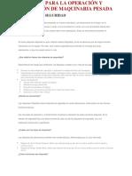 Consejos Para La Operación y Aplicación de Maquinaria Pesada Etiquetas de Seguridad
