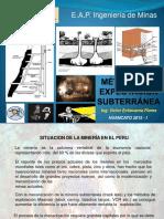 MÉTODOS DE EXPLOTACIÓN SUBTERRANEA  2da Semana 2015 I.pptx