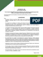 Acuerdo 049 de 23 de Octubre de 2018 Por El Cual Se Establece El Valor de Las Matriculas y Otros Derechos Pecuniarios 2019