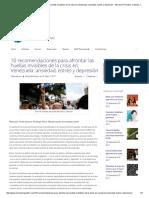 RECOMENDACIONES PARA AFRONTAR CRISIS EN VENEZUELA