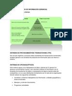 Clases de Sistemas de Información Gerencial Institucional Ll