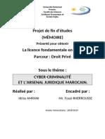 La cybercriminalité et l'arsenal juridique marocaine