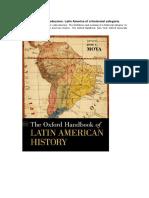 MOYA, Jose C. Introduccion. Latin America of a Historcial Categoria.