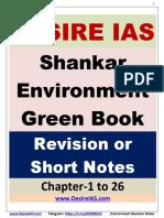 Shankar IAS Environment revision notes