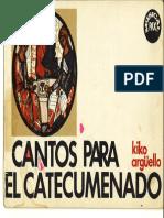 36-Cantos Para El Catecumenado Kiko Musical Pax