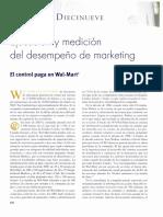 Ejecución y medición del desempeño de marketing