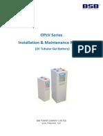 OPzV Installation Maintenance Manual V2 1