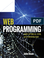 John Dean - Web Programming With HTML5, CSS, And JavaScript (2019, Jones & Bartlett Publishers)