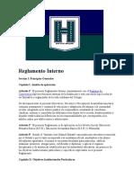 Reglamento Interno Instituto José Hernández