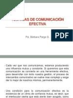 Técnicas de Comunicación Efectiva