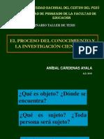(01) El Proceso Del Conocimiento y La Investigación Cinetífica