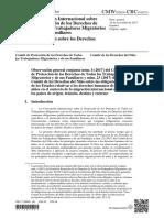 Comité de derechos del niño Observación general N° 23, Conjunta