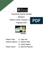 Usal - America Latina Procesos e Ideas 2012