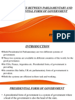 DIFFERENCE BETWEEN PARLIAMENTARY AND PRESDENTIAL FORM OF GOVERNMENT.pptx