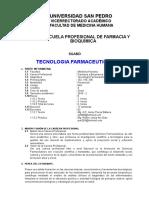 Silabo Tecnologia Farmaceutica